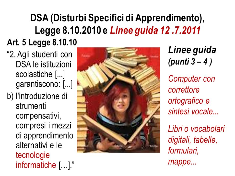 DSA (Disturbi Specifici di Apprendimento), Legge 8. 10