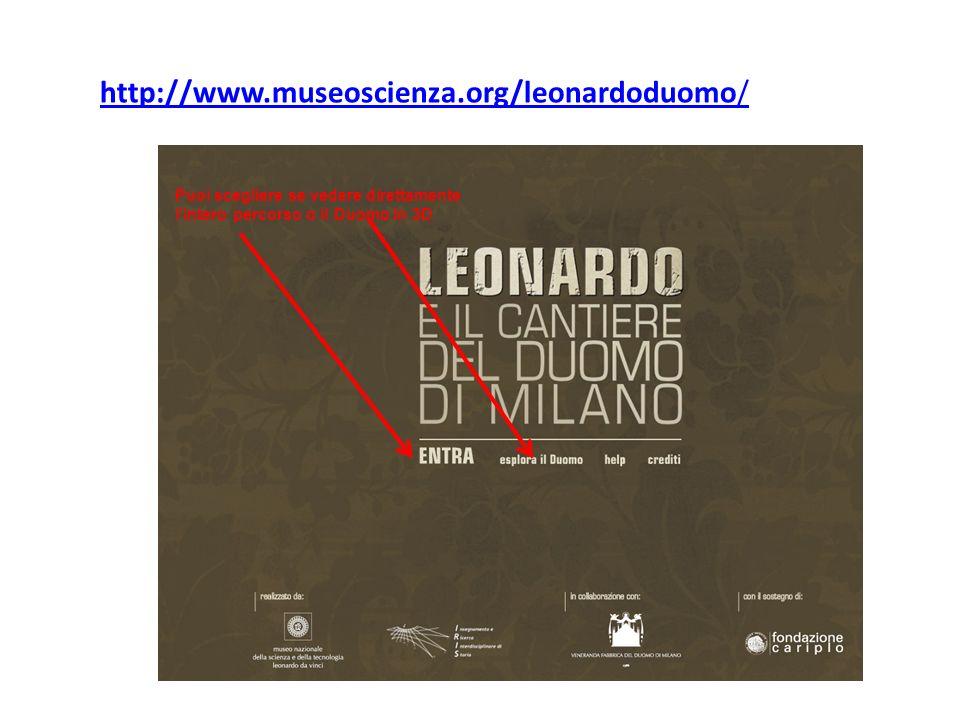 http://www.museoscienza.org/leonardoduomo/ Puoi scegliere se vedere direttamente l'intero percorso o il Duomo in 3D.