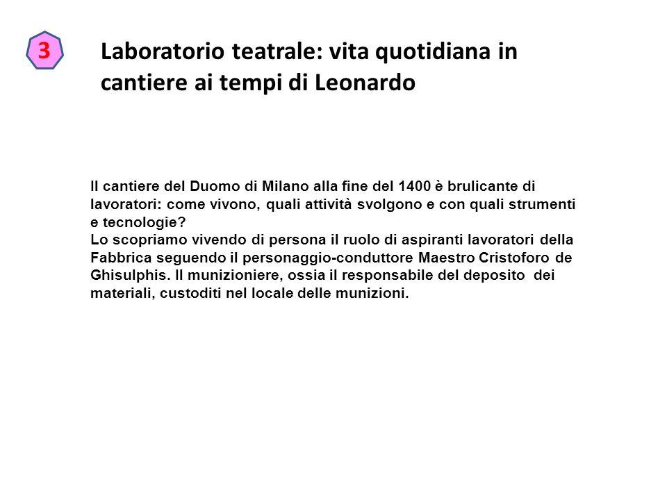 Laboratorio teatrale: vita quotidiana in cantiere ai tempi di Leonardo