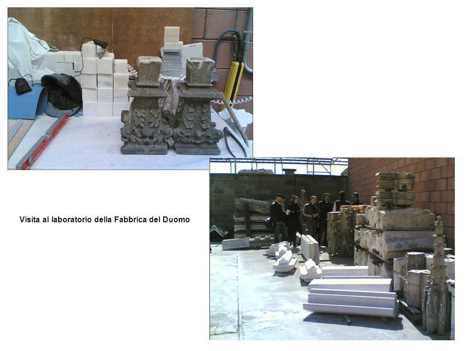 Visita al laboratorio della Fabbrica del Duomo