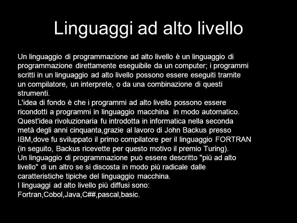 Linguaggi ad alto livello