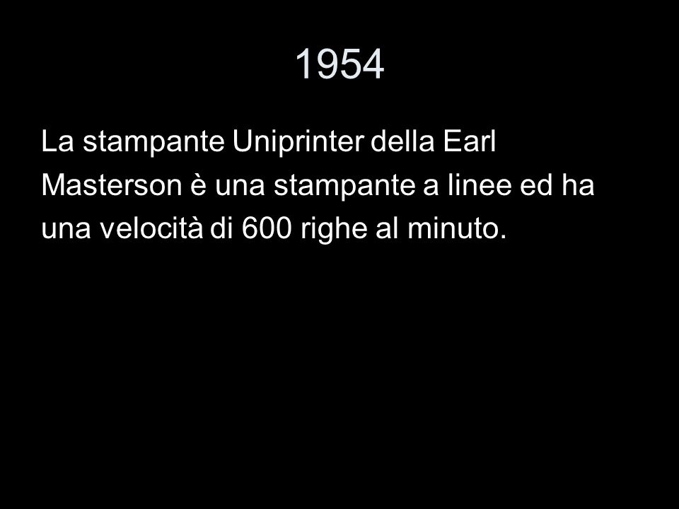 1954 La stampante Uniprinter della Earl