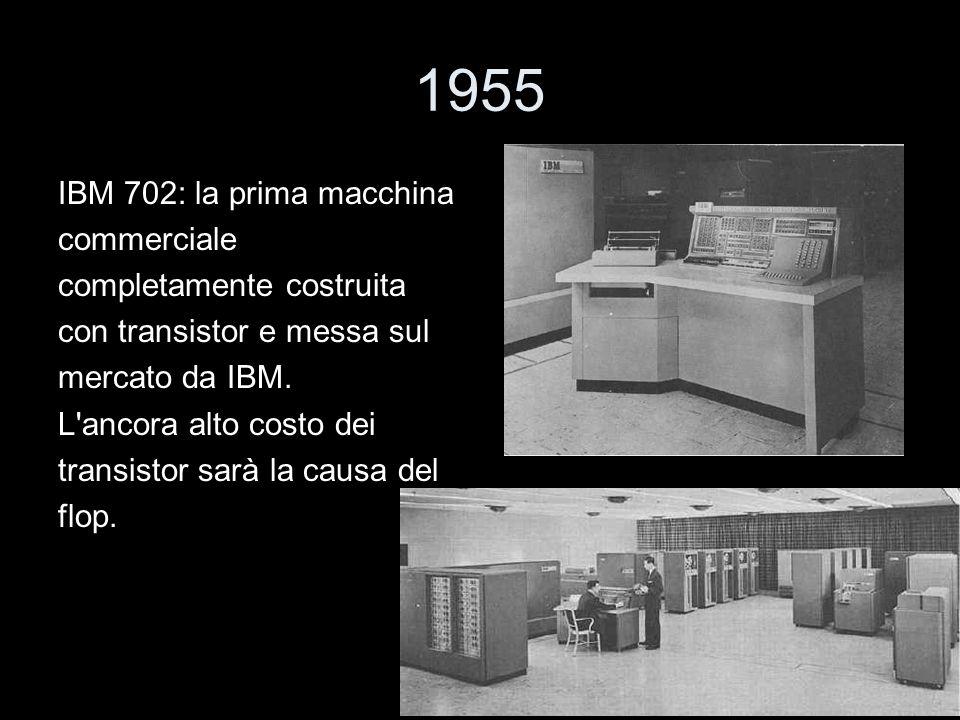 1955 IBM 702: la prima macchina commerciale completamente costruita