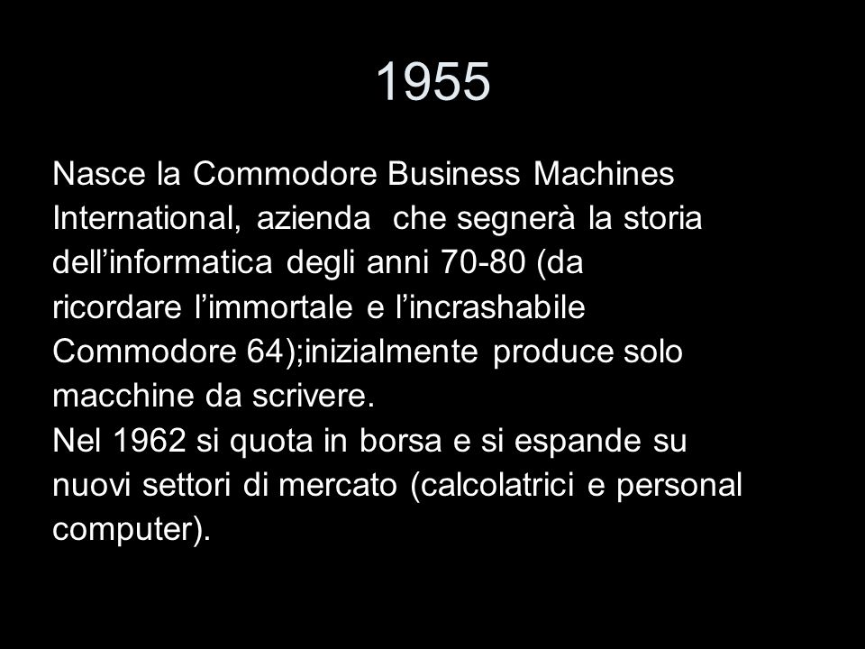 1955 Nasce la Commodore Business Machines