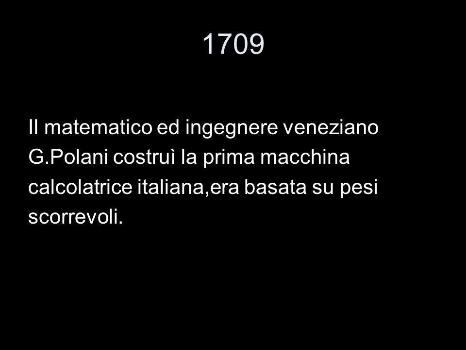 1709 Il matematico ed ingegnere veneziano