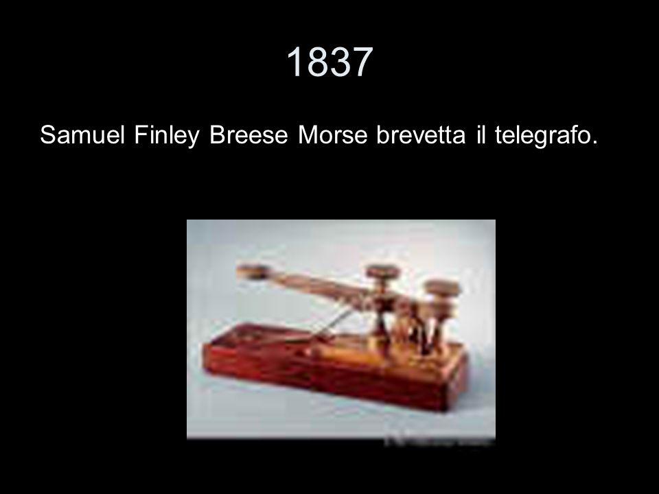1837 Samuel Finley Breese Morse brevetta il telegrafo.