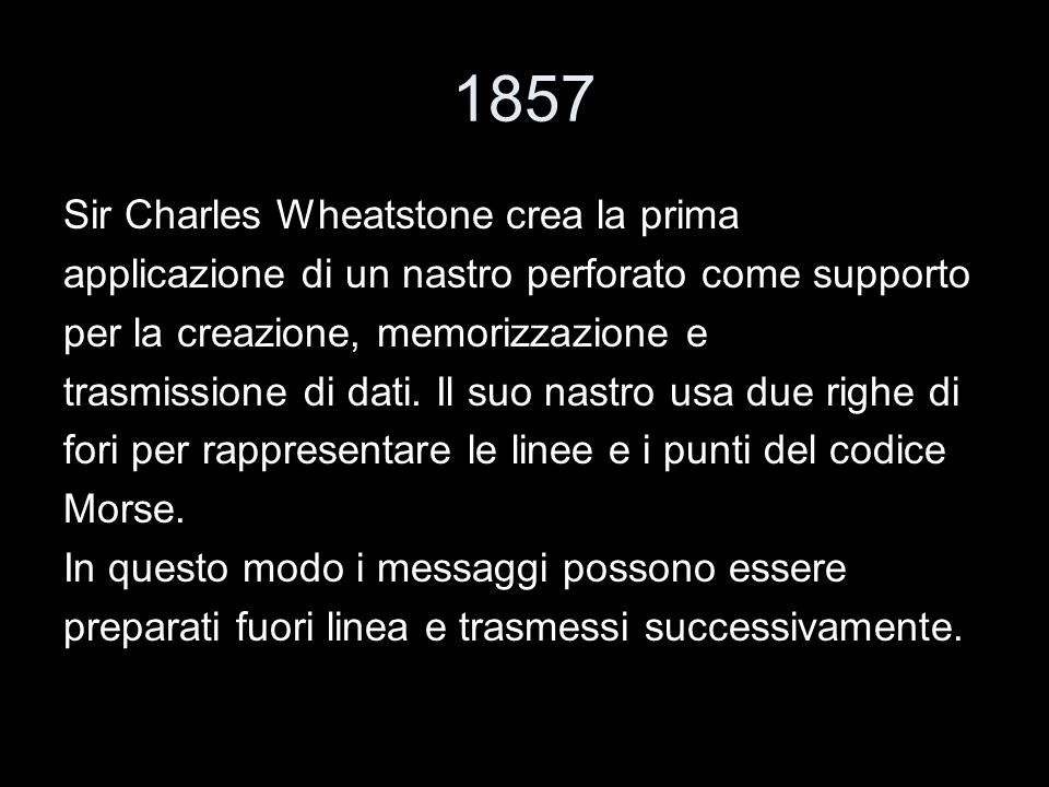 1857 Sir Charles Wheatstone crea la prima
