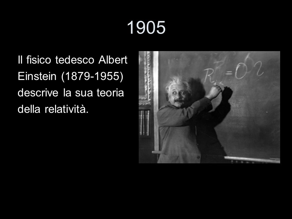 1905 Il fisico tedesco Albert Einstein (1879-1955)