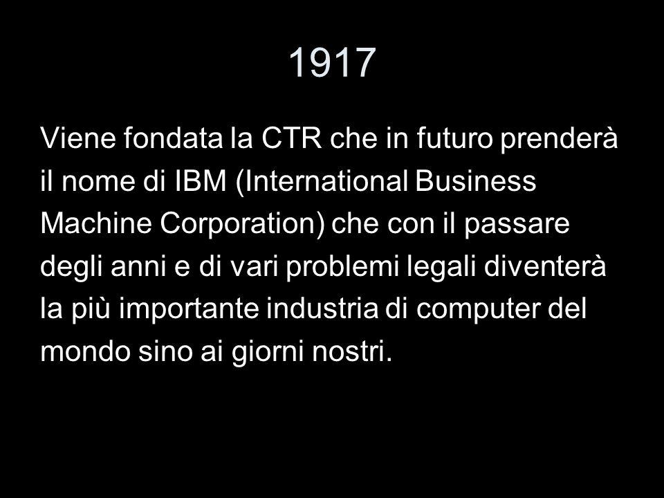 1917 Viene fondata la CTR che in futuro prenderà