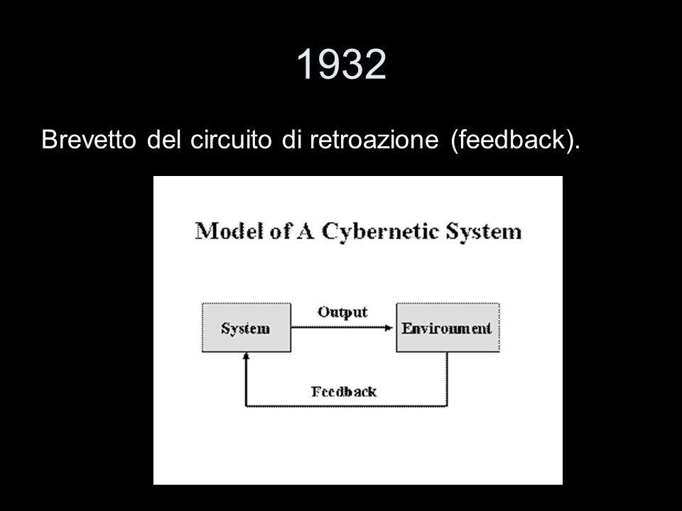 1932 Brevetto del circuito di retroazione (feedback).
