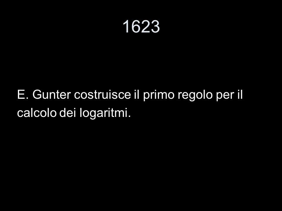 1623 E. Gunter costruisce il primo regolo per il