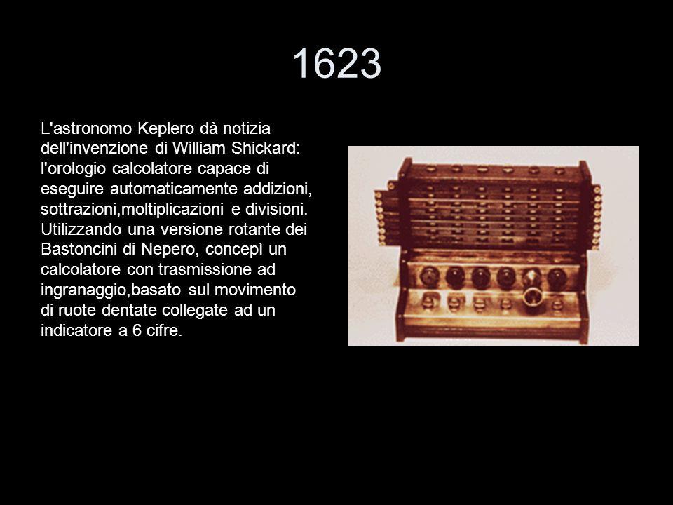 1623 L astronomo Keplero dà notizia