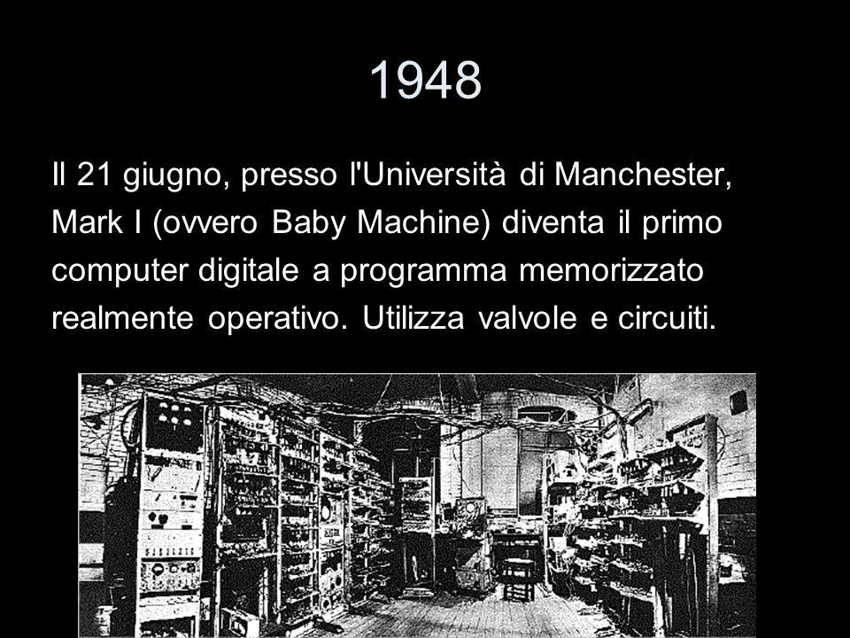 1948 Il 21 giugno, presso l Università di Manchester,