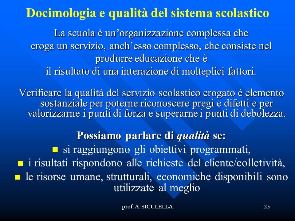 Docimologia e qualità del sistema scolastico