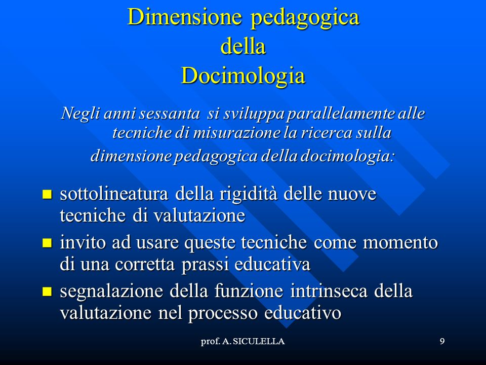 Dimensione pedagogica della Docimologia
