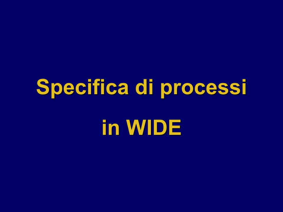 Specifica di processi in WIDE