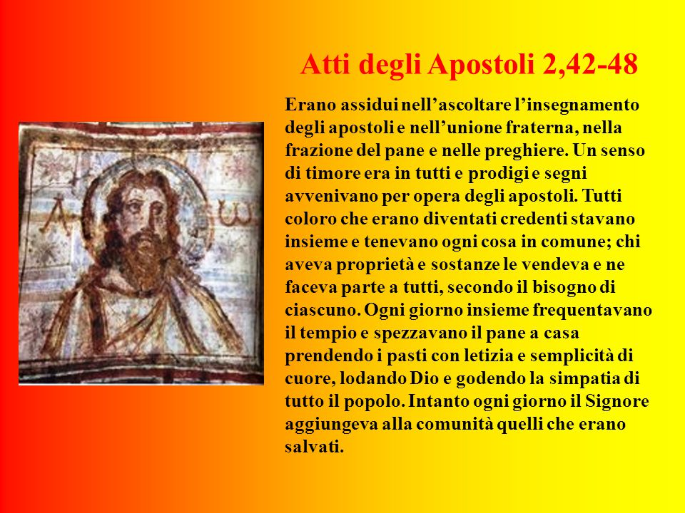 Atti degli Apostoli 2,42-48