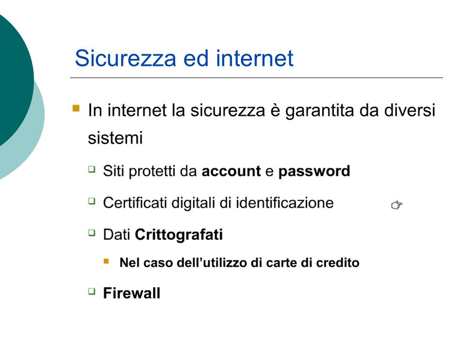 Sicurezza ed internet