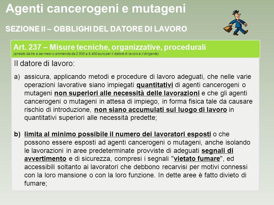Agenti cancerogeni e mutageni