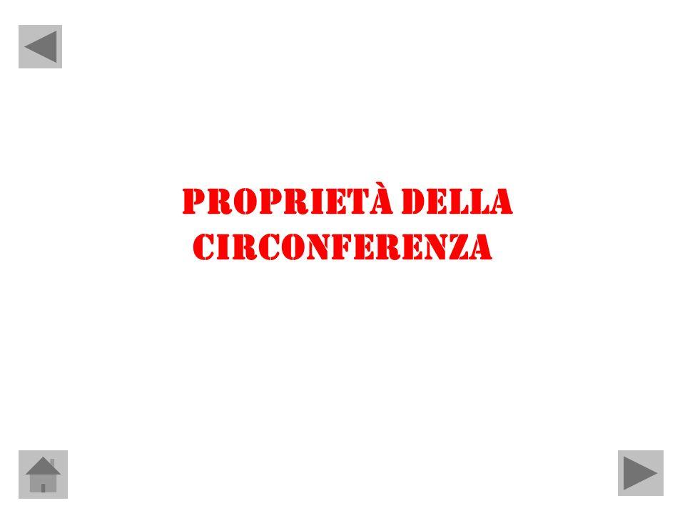 PROPRIETÀ DELLA CIRCONFERENZA