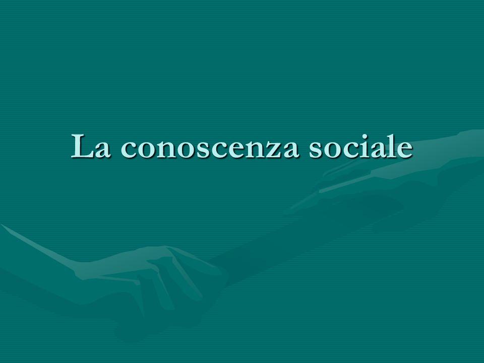 La conoscenza sociale