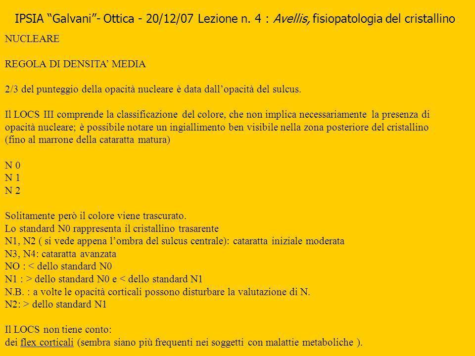 IPSIA Galvani - Ottica - 20/12/07 Lezione n