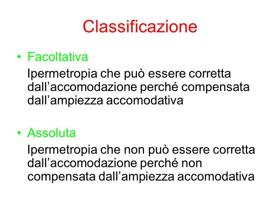 Classificazione Facoltativa