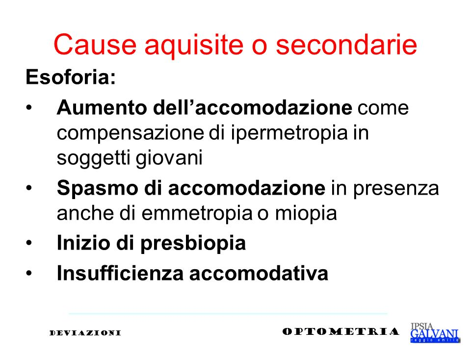Cause aquisite o secondarie