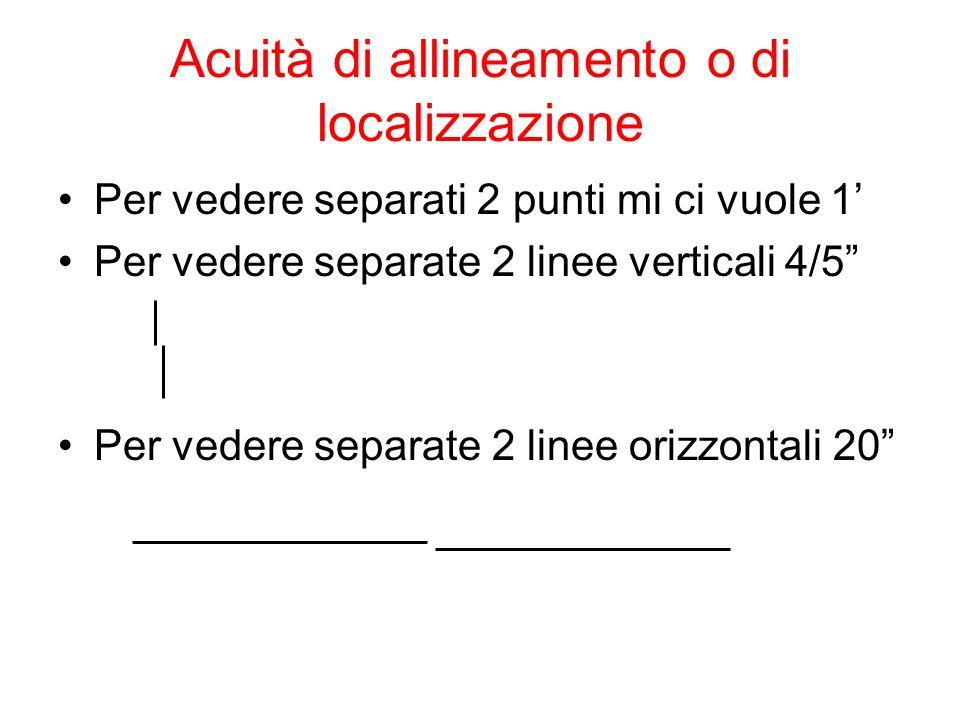 Acuità di allineamento o di localizzazione