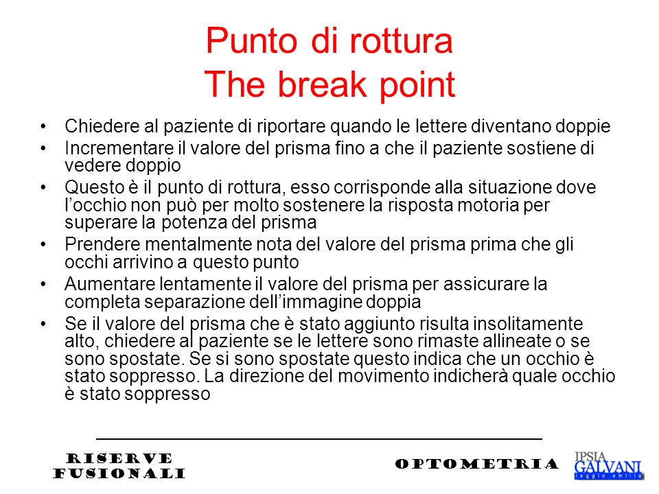 Punto di rottura The break point