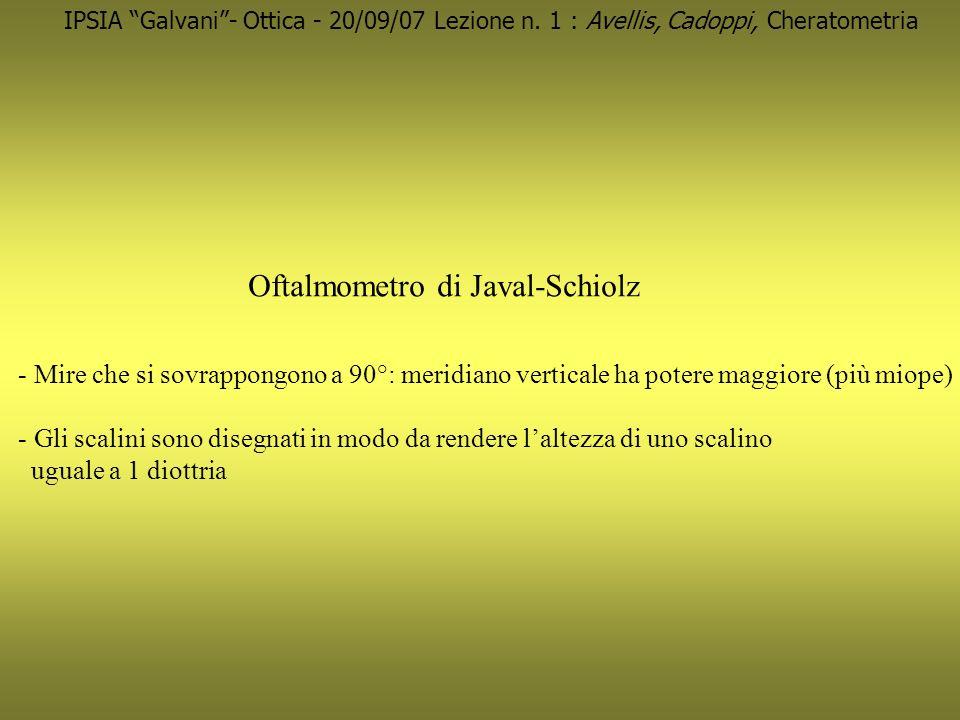 Oftalmometro di Javal-Schiolz