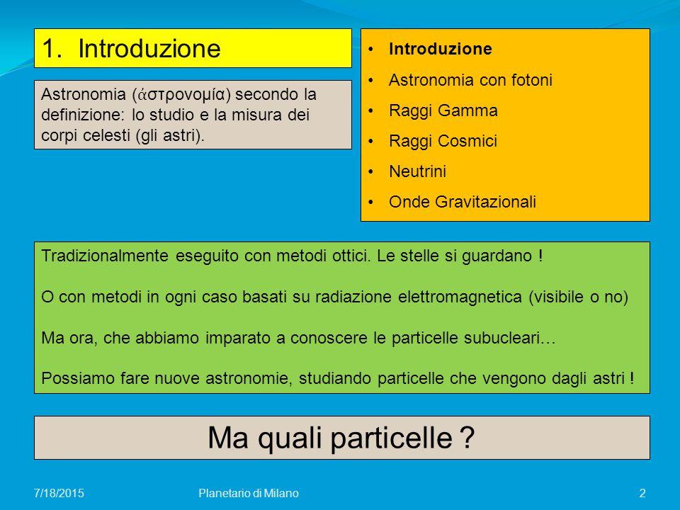 Ma quali particelle 1. Introduzione Introduzione