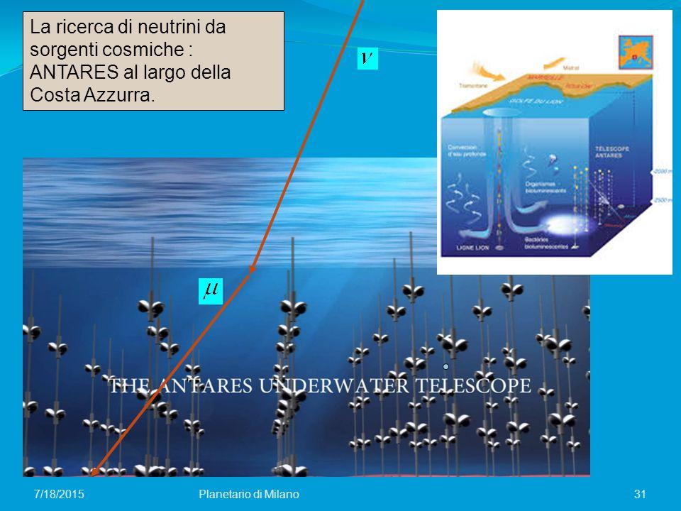La ricerca di neutrini da sorgenti cosmiche : ANTARES al largo della Costa Azzurra.