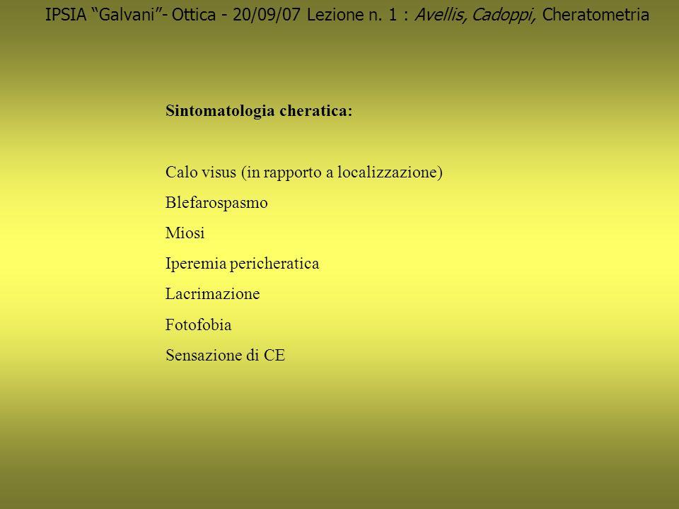 IPSIA Galvani - Ottica - 20/09/07 Lezione n
