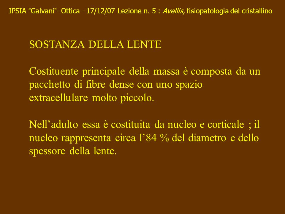 IPSIA Galvani - Ottica - 17/12/07 Lezione n