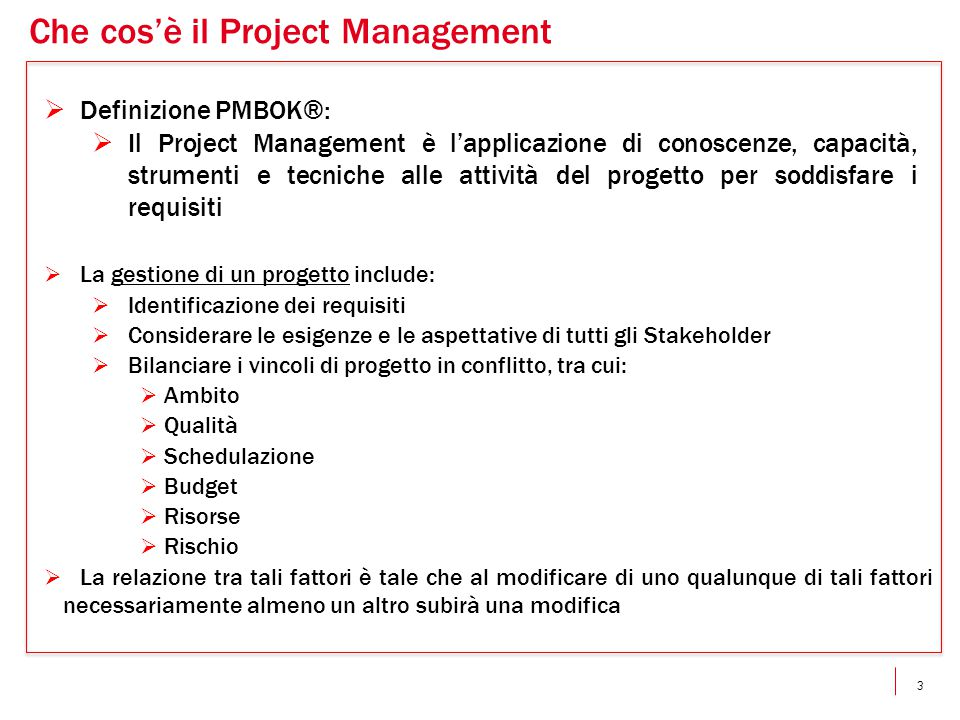 Che cos'è il Project Management
