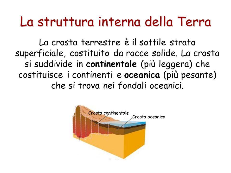 La struttura interna della Terra