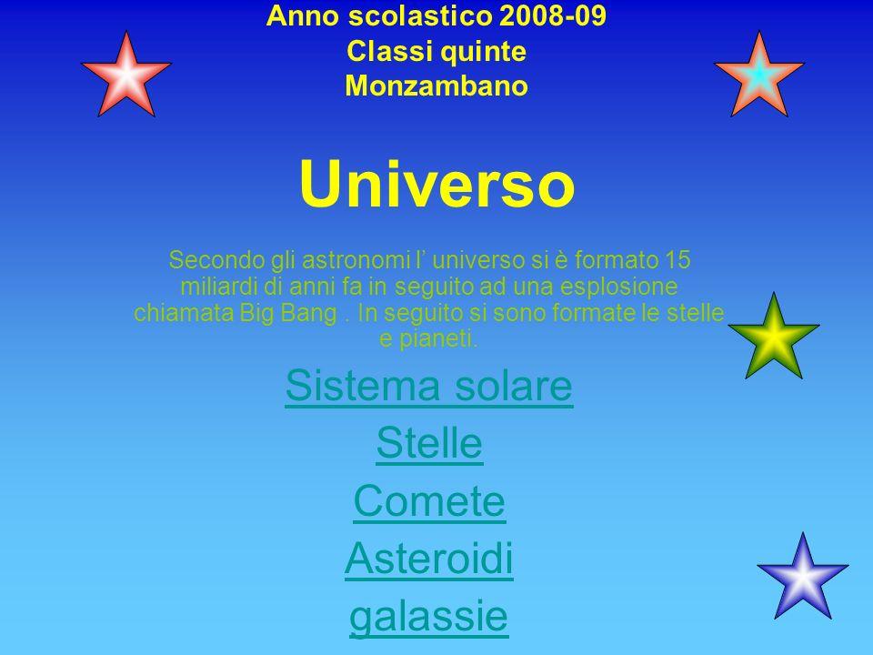 Anno scolastico 2008-09 Classi quinte Monzambano Universo