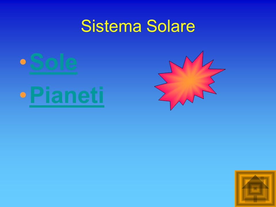 Sistema Solare Sole Pianeti
