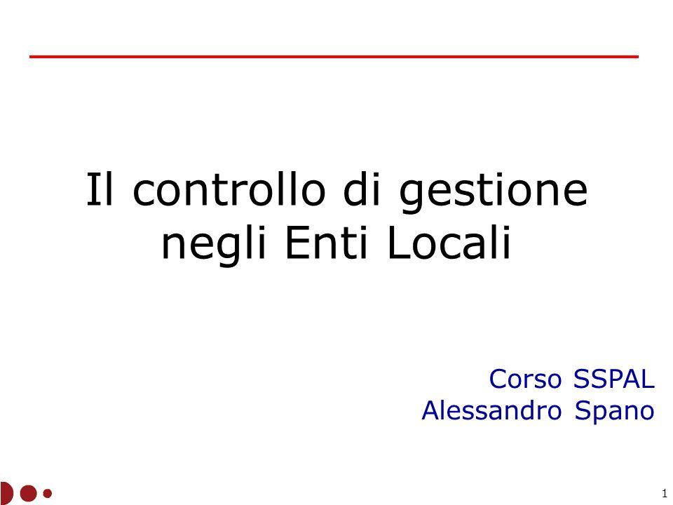 Il controllo di gestione negli Enti Locali