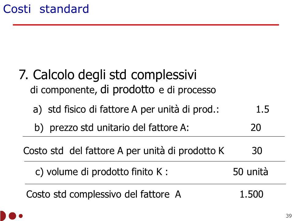 7. Calcolo degli std complessivi