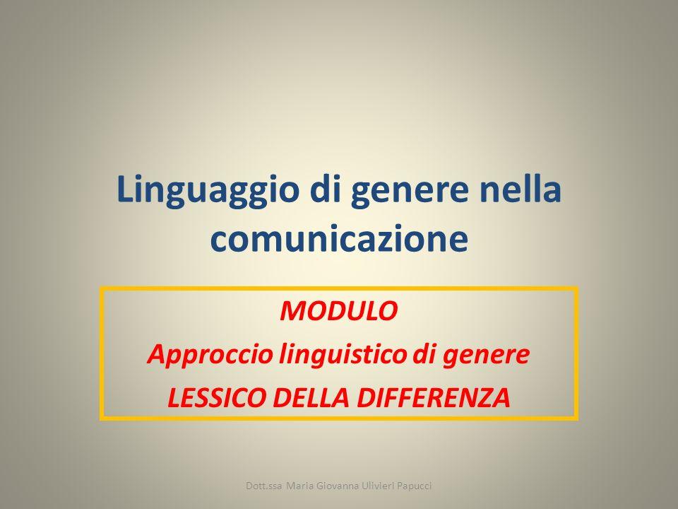 Linguaggio di genere nella comunicazione