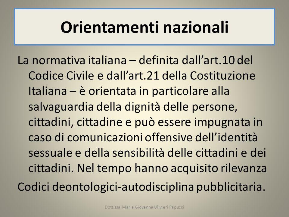 Orientamenti nazionali