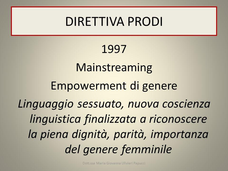 Dott.ssa Maria Giovanna Ulivieri Papucci