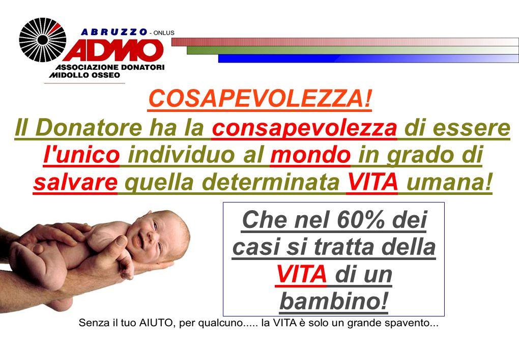 Che nel 60% dei casi si tratta della VITA di un bambino!
