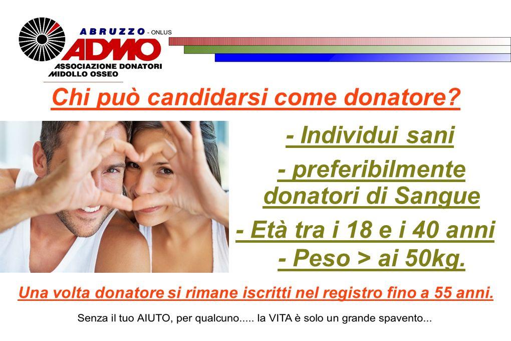 Chi può candidarsi come donatore