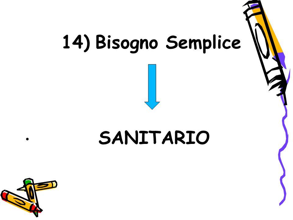 14) Bisogno Semplice Bisogno Semplice SANITARIO