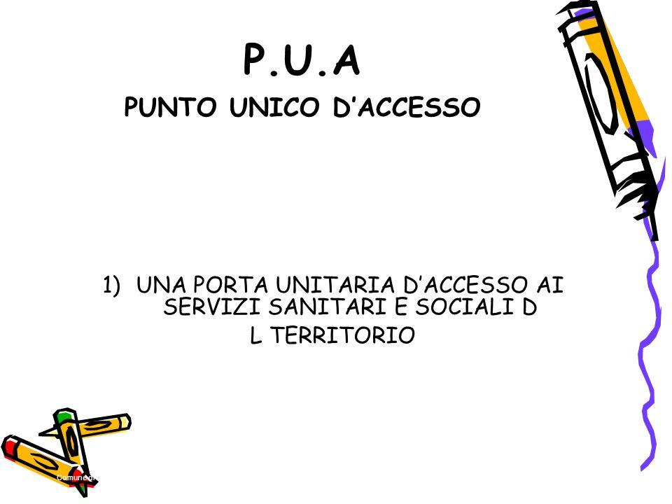 P.U.A PUNTO UNICO D'ACCESSO