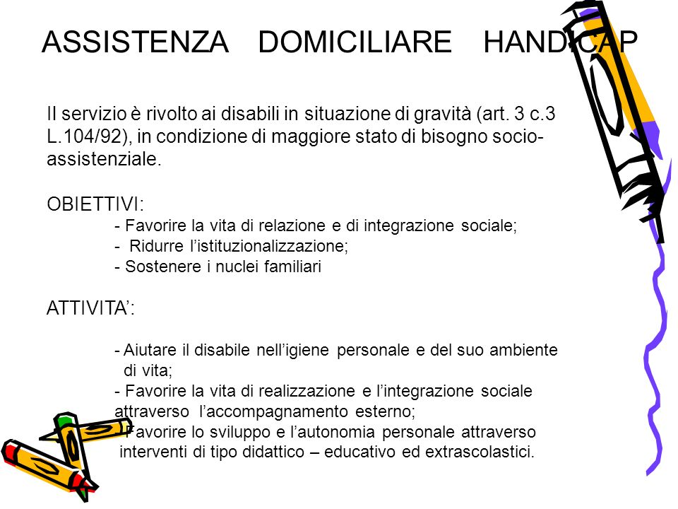 ASSISTENZA DOMICILIARE HANDICAP