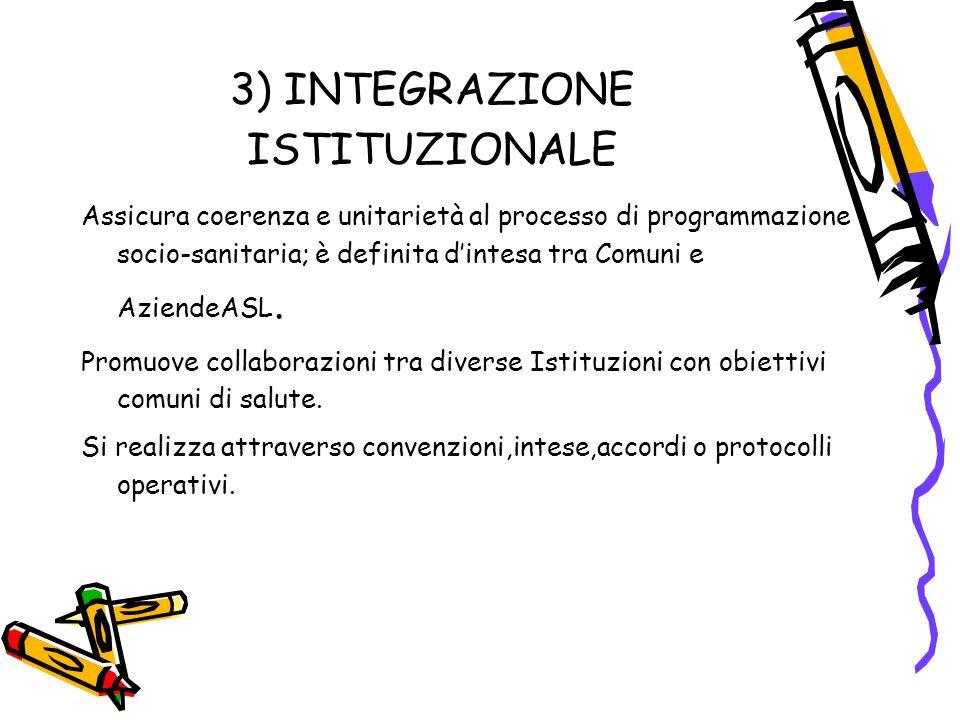 3) INTEGRAZIONE ISTITUZIONALE
